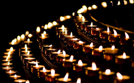 Candle light in a church Stock Photo - 3947850