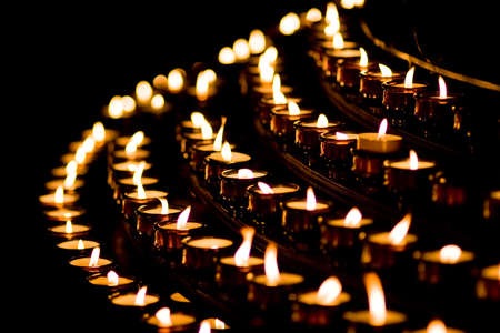 Candle light in a church Stock Photo - 4019125