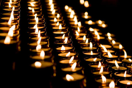 Candle light in a church Stock Photo - 4087235