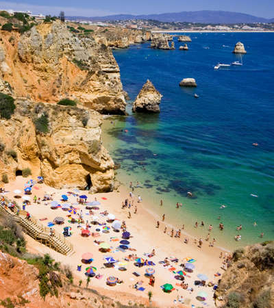 Algarve rock - coast in Portugal Banco de Imagens - 4328226