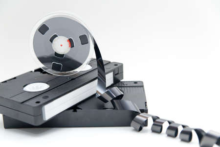 superseded: old video tape on white background
