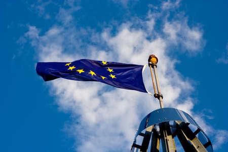 Very large Europian Union Flag. photo