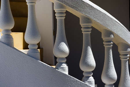 spiral white stairs outside on fresh air Stock Photo - 5198233