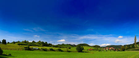 greenfield: sumer landscape at Germany wiht blue sky and mountain