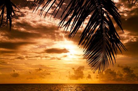 Maldivian Sunset obrazu z kolorem nice Zdjęcie Seryjne