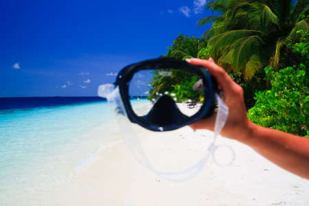 View through a diving maks on paradise Stock Photo - 6733901