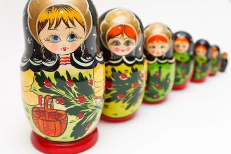 russian matryoshka doll on white background Banco de Imagens