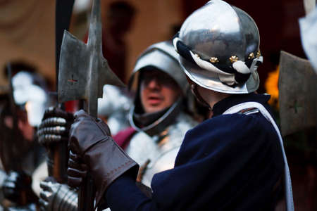 squire: history event, knight holiday day of mascarade Stock Photo