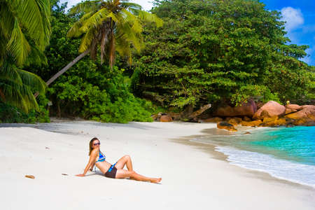 Anse Lanzio beach at Seychelles photo