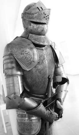 Eine natürliche alten texturierte Ritter Rüstung Standard-Bild