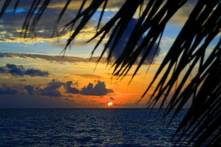 Maldivian Sunset image with nice color Banco de Imagens
