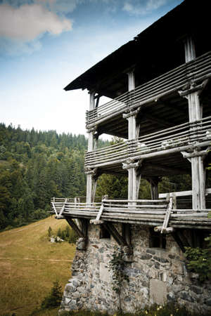 idylic contry home at montain in natur photo