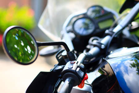detail part photo of an modern motorcycle, a dream! Stock Photo