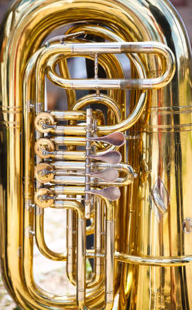 marching: Tuba is a musical instrument made of brass