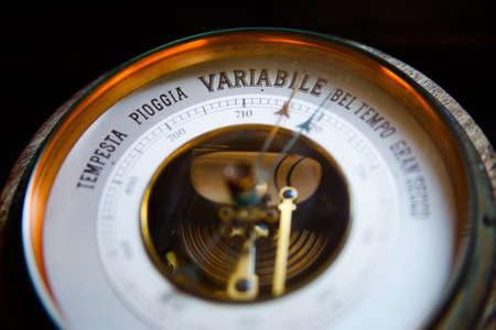 barometer: Photo of a old vinage barometer Stock Photo