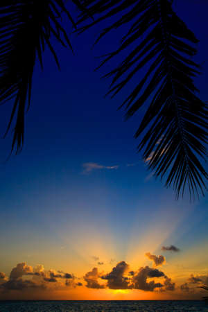maldivian: Maldivian Sunset image with nice color Stock Photo