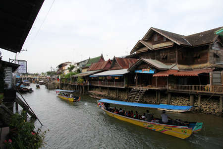 amphawa: Amphawa Floating Market. Editorial