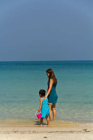 koh samet: Children and family swim, Koh Samet, Rayong province during the summer of that year