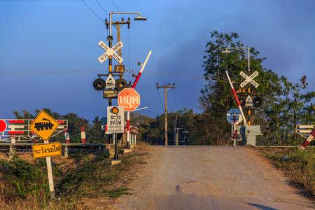 Railroad crossing photo