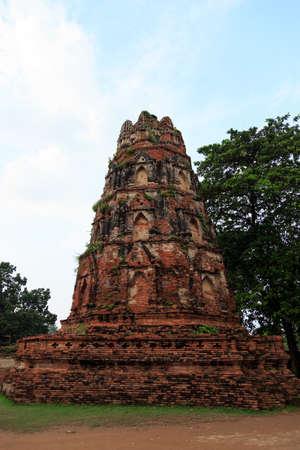 Pagoda Forest. Ayutthaya-thailand. Stock Photo