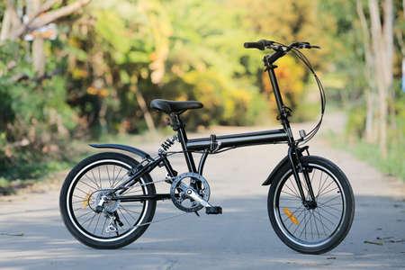 Folding bike.