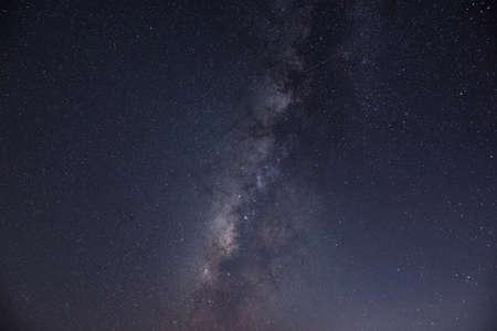 Night scene milky way background. Stockfoto