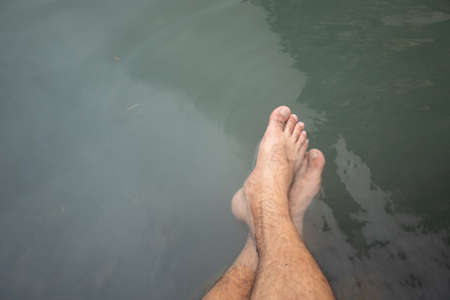 Feet in the Hot springs from Thailand.
