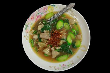 Fried noodle with pork. Stockfoto