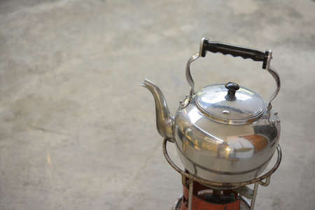 Old vintage retro Kettle , kettle made of aluminum materials.