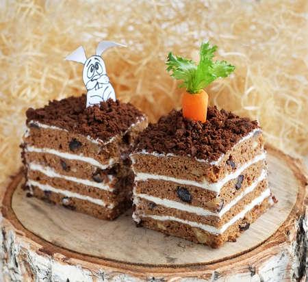 carrot cake: Homemade healthy carrot cake