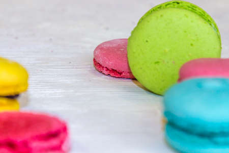 dulcet: Fresh macaroons Stock Photo