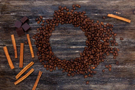Coffee beans and cinnamon Stock fotó