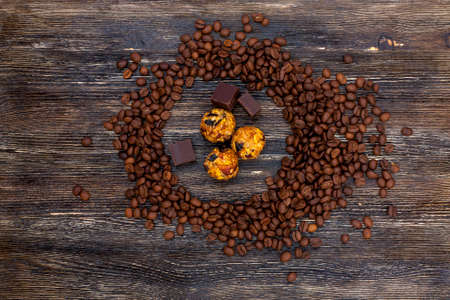 Coffee beans and candies