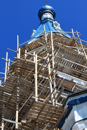 Restoration of the Orthodox Church in the town of Gatchina photo