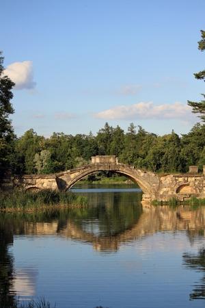 Bridge in Palace Park in Gatchina photo