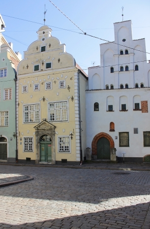 mannerism: Oldest complex of dwelling houses in Riga. The house White Brother was built in the late 15th century Editorial
