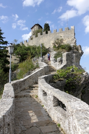 11th century: Fortress of Guaita was built in the 11th century and served briefly as a prison