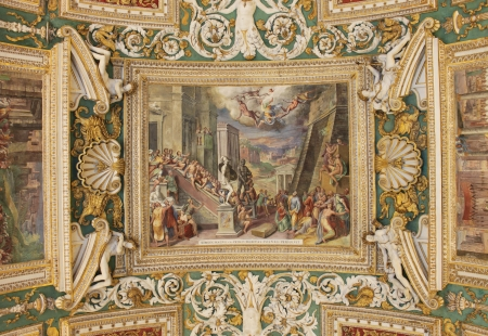 magus: Ceilings in the Vatican City. Simon Magus S. Petro Debitas Poenas Persolvit