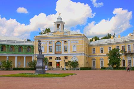 palacio ruso: Pavlovsk Palace residencia imperial ruso del siglo 18 en Pavlovsk, cerca de San Petersburgo