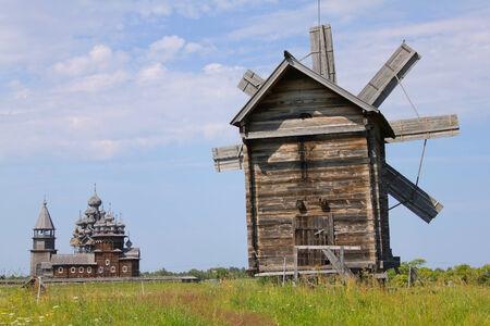 eight legged: Eight legged windmill in museum-reserve Kizhi, Russia