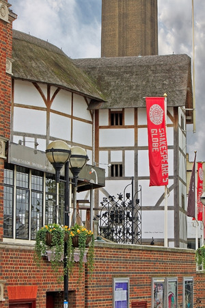globe theatre: Fragment of the Shakespeare Globe Theatre in London