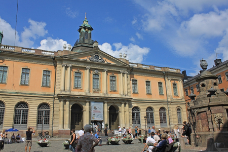 laureates: STOCKHOLM, SWEDEN - CIRCA JULY 2011: Nobel Museum  is a museum devoted to circulate information on the Nobel Prize, Nobel laureates from 1901 to present, and the life of the founder of the prize, Alfred Nobel (1833-1896) Editorial