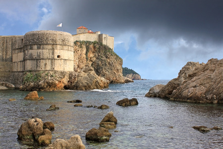 pila: Fortress in Dubrovnik, Croatia. Fort Bokar is the key point in the defense of the Pila Gate.