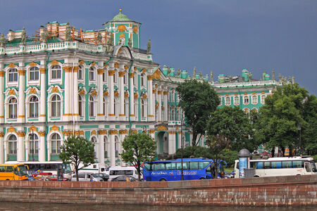 hermitage: The Hermitage on a rainy day. St. Petersburg, Russia
