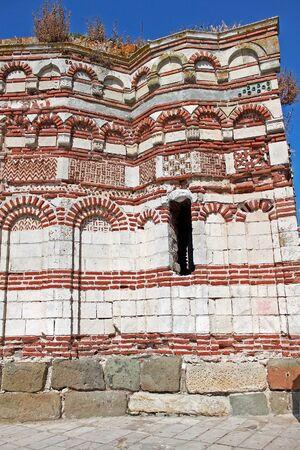 14th century: Orthodox Church of St John Aliturgetos 14th century in Nesebar, Bulgaria. Stock Photo
