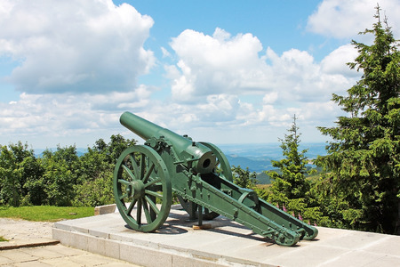 the liberator: Shipka, Bulgaria - 15 July 2015:  Russian old cannon on Shipka pass. Cannon is located there since the time of the Russian-Turkish War of 1877-1878 Editorial