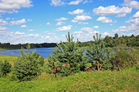 volkhov: Volkhov River near Staraya Ladoga. Leningrad Oblast, Russia Stock Photo