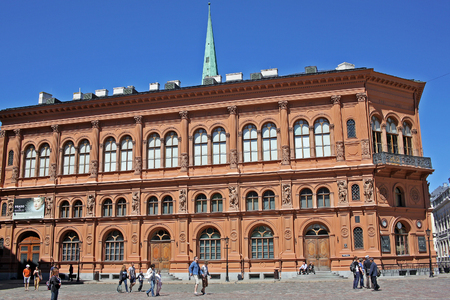 Riga, Latvia - 23 Juny 2017: Art Museum Riga Bourse stores the largest collection of foreign art in Baltic States. The collection was started by Riga's council members, mayors and traders in 19 century