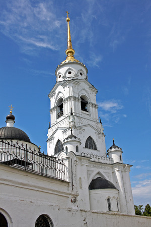 Vladimir, Russia - 16 July 2017: Dormition Cathedral was a mother church of Medieval Russia in the 13th and 14th centuries. It is part of a World Heritage Site