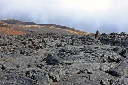 Lava field, which was formed after the eruption of Tolbachik, which occurred in 2012-2013. Kamchatka peninsula, Russia 免版税图像